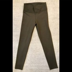 Olive green cropped leggings Fabletics